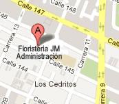 Mapa de Las Floristerias en Bogota JM