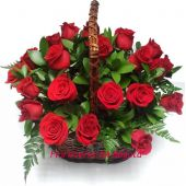 Canasto Deluxe 24 Rosas - Vista Superior