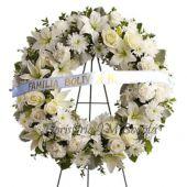 Coronas Flores Blancas Bogota