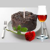Torta Negra Vino y Vela a Domicilio en bogota