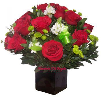Arreglo Floral de 12 Rosas en Bogota