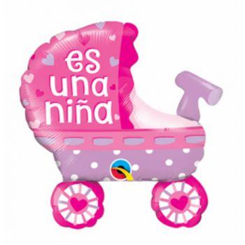 Globo Metalizado Es una niña - Bogota Domicilios