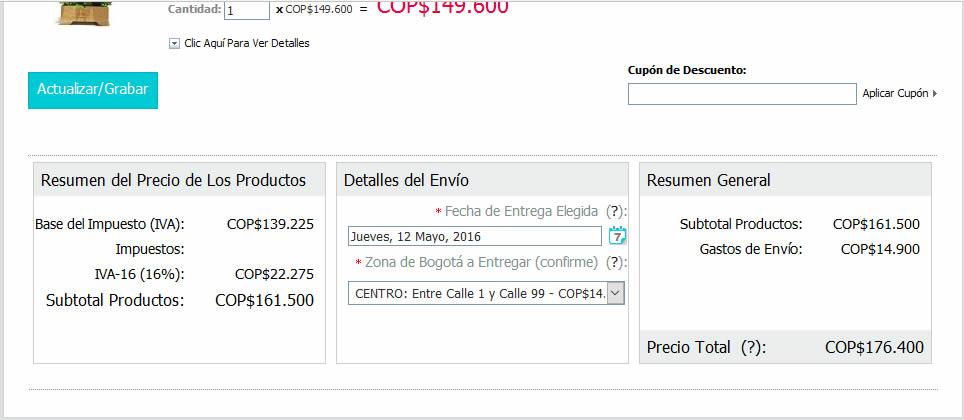 Valor en Pesos del Producto en La Floristería JM