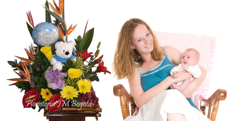 Envio de Flores Nacimiento Bebe en Bogota