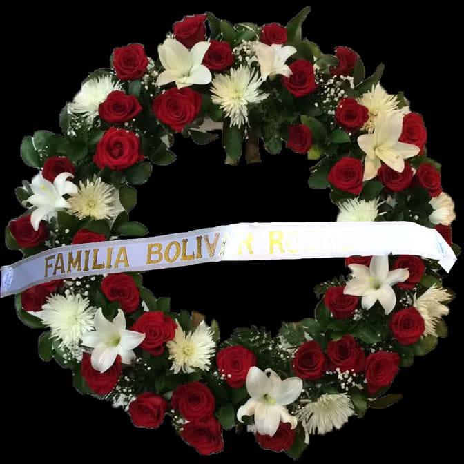 Coronas Flores Rosas Y Blancas A Funeraia En Bogota Envios Mismo Dia