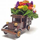 Camion de Rosas Vista Frente para regalo en Bogota