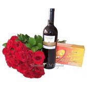 Flores Vino Chocolates envio bogota