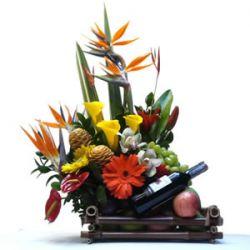 Fruteros con Flores en Bogota a Domicilio