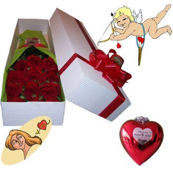 Caja de Rosas con Chocolates y/o Peluche