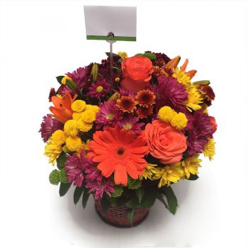 Arreglo Floral para enviar a Bogotá, vista superior
