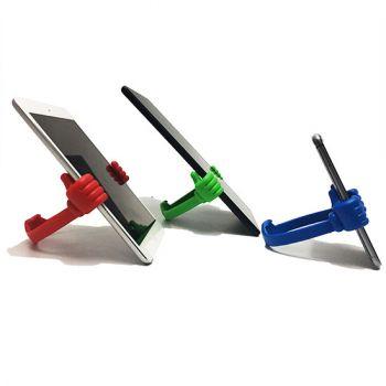 dos manos de soporte para tableta o celular