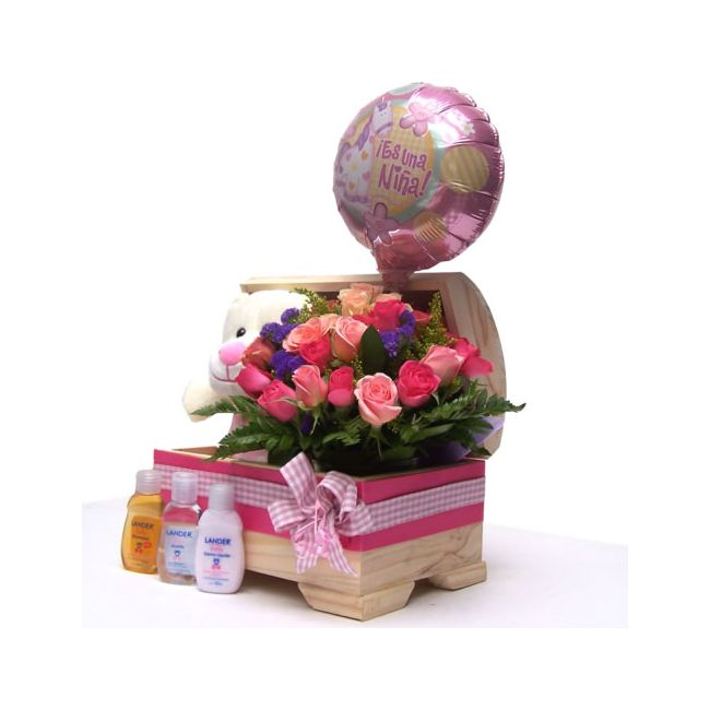 Baby Gift Box Delivery : It s a girl newborn gift box bogota colombia delivery