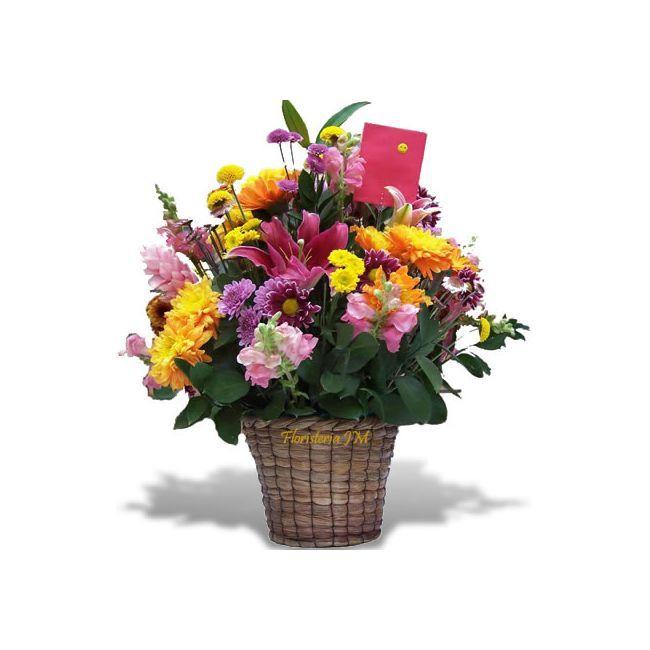 Arreglo Floral para enviar a Bogotá, en Canasta