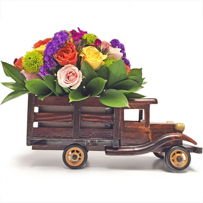 Camion de Flores vista lateral, de regalo en Bogota