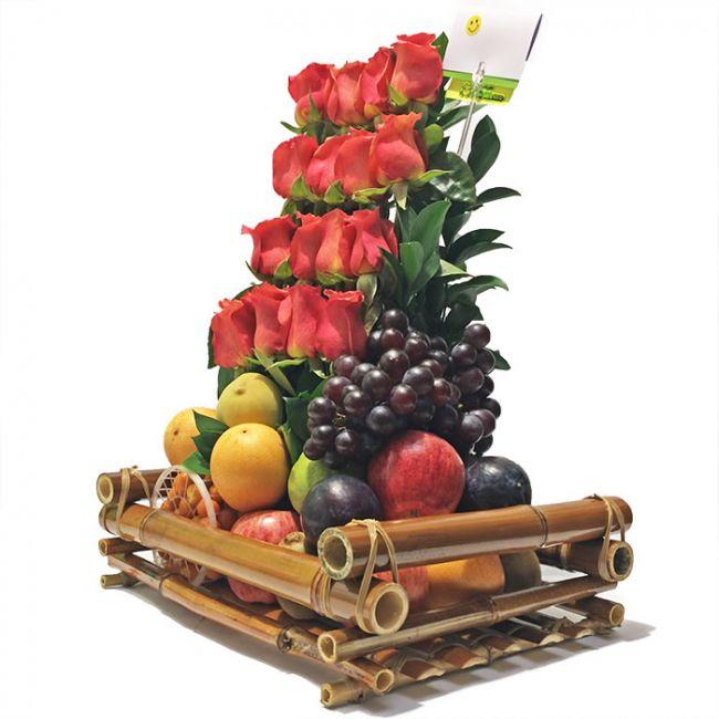 Combo de Rosas y Frutas en Bogota a Domicilio