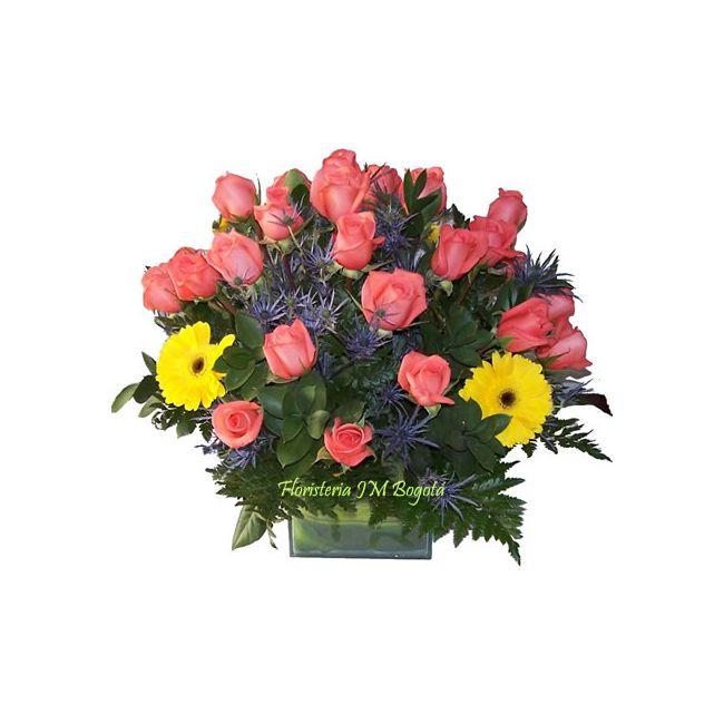 25 Rosas y Gerberas Envio Bogota