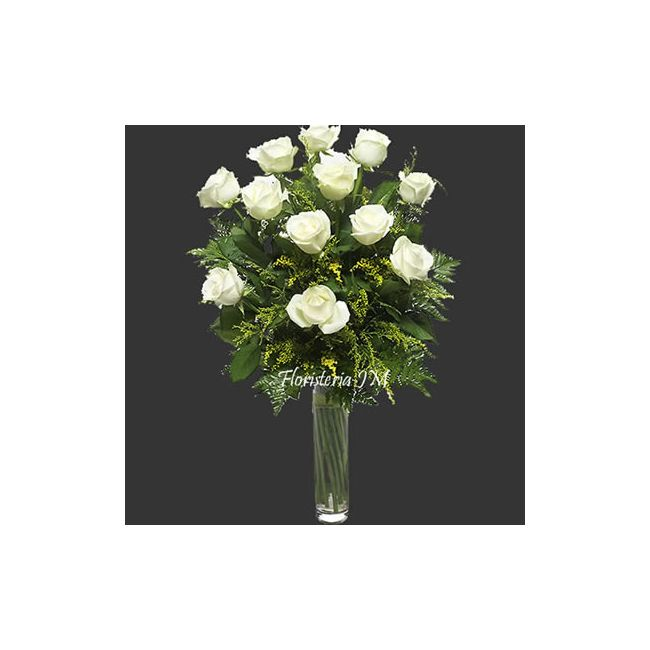 Florero Funebre Rosas Blancas